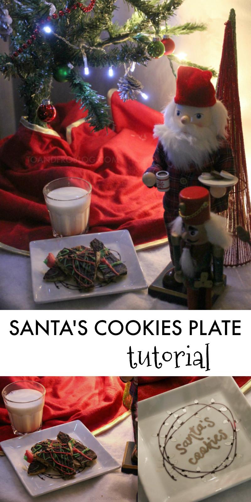 Santa's Cookies Plate Tutorial
