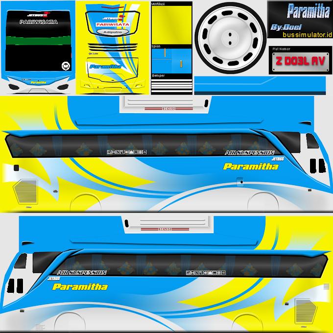 Paramitha Jetbus 2+ : Livery Skin Bus Simulator Indonesia