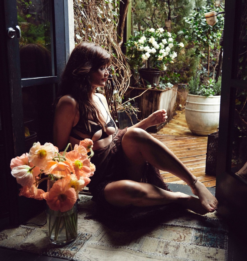 Helena Christensen wears lingerie brand Coco de Mer's Icons collection