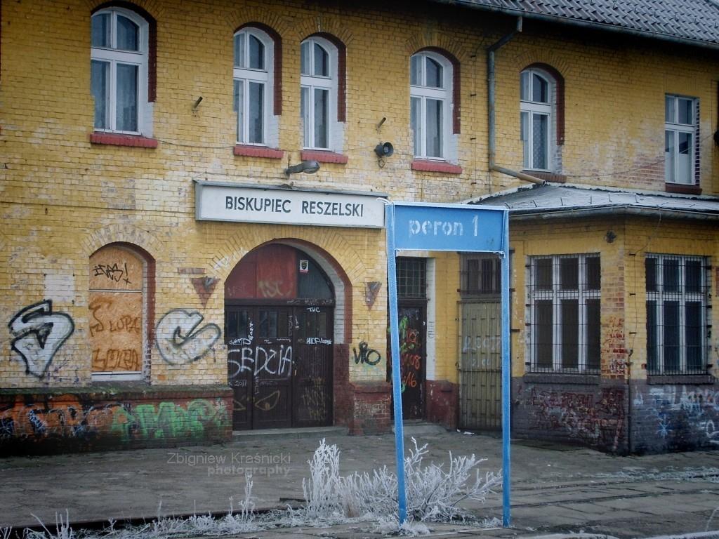 Tu stacja Biskupiec Reszelski