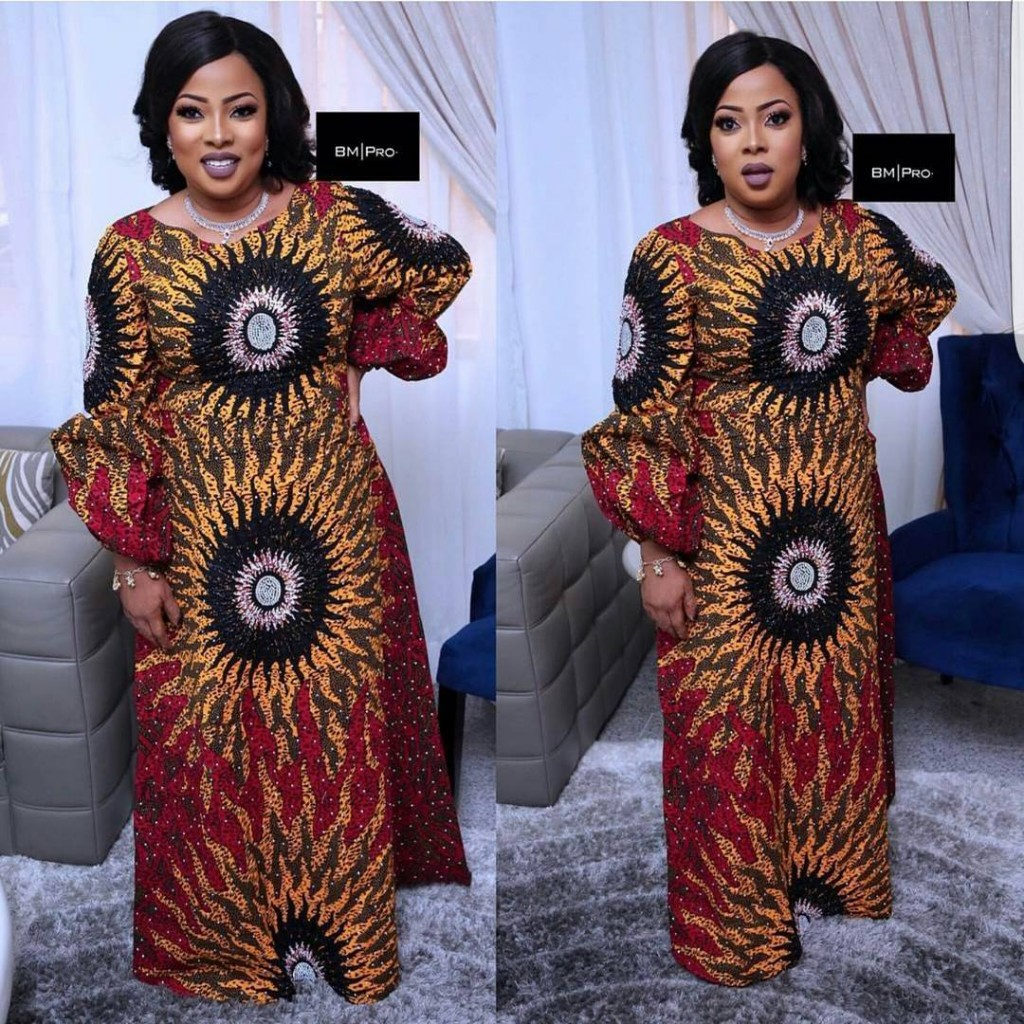 Check out This Lovely Ankara Long Gown Styles - DeZango Fashion Zone
