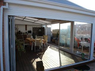 Instalación de cerramientos para terrazas