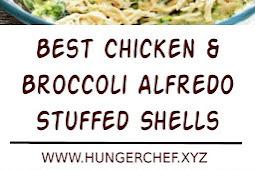 Best Chicken & Broccoli Alfredo Stuffed Shells Recipe
