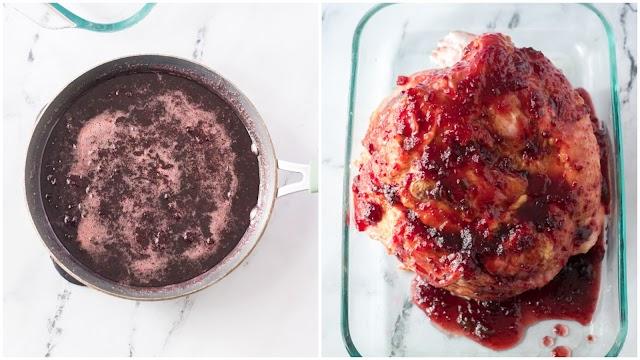 Ham recipe process photo collage.
