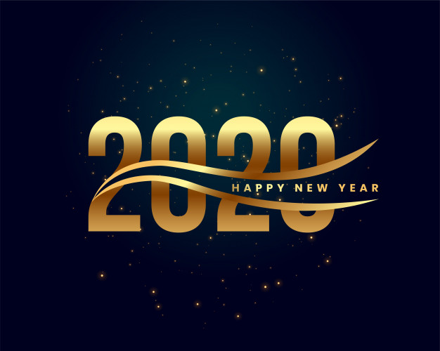 Fireworks Happy New Year 2020 Greating Card