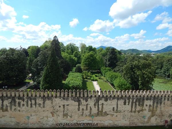 Castello del Catajo: veduta dall'alto