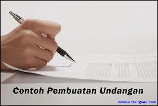Contoh Pembuatan Undangan Musyawarah Karnaval Takbir