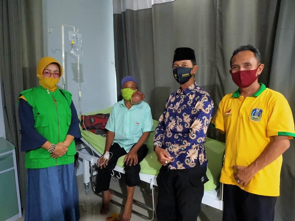Baznas dan PPDI Lumajang Bantu Operasi Penderita Tumor