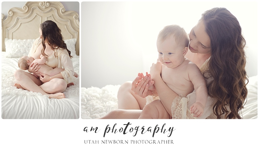mommy and me session with breastfeeding in Utah