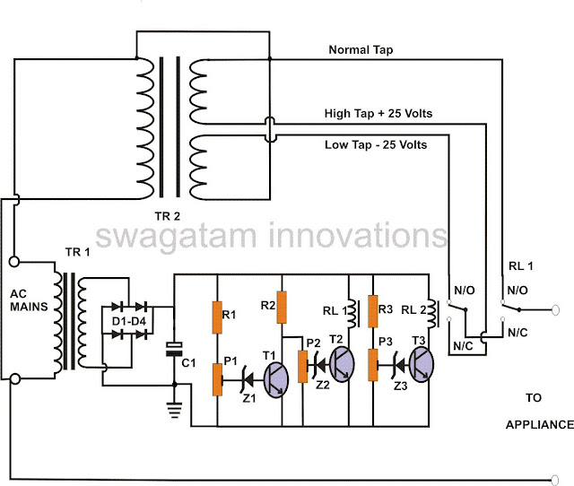 220V Mains Power Stabilizer Circuit