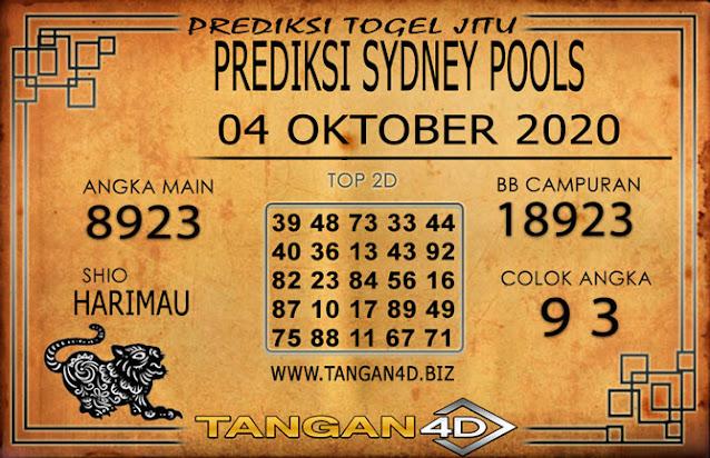 PREDIKSI TOGEL SYDNEY TANGAN4D 04 OKTOBER 2020