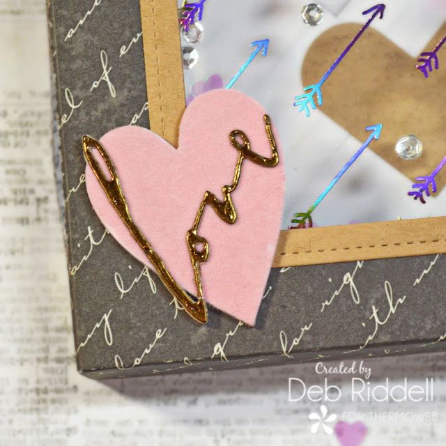 Love Letters Shaker Box Detail