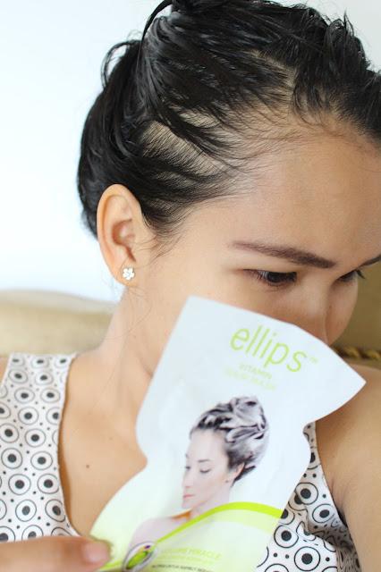 Menggunakan-ellips-hair-mask-uli-mayang