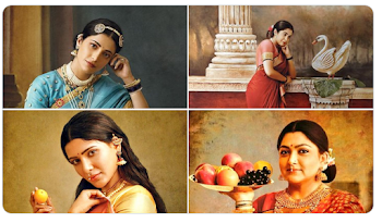 G. Venket Ram photoshot to recreate Ravi Varma paintings