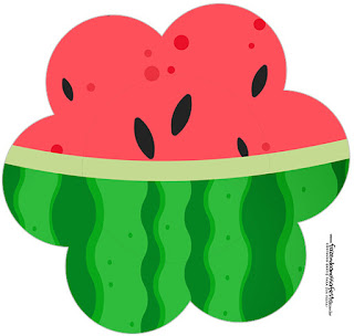 Watermelon Heart: Free Printable Cupcake Toppers.