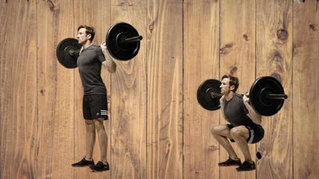 WEIGHT  BACK SQUATS