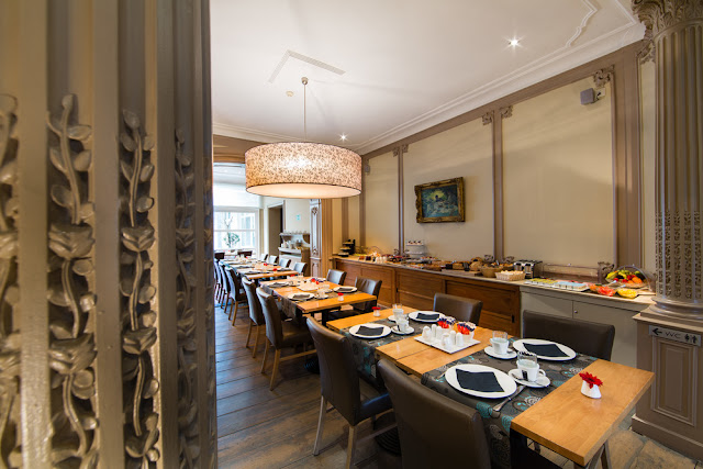 Zona de restaurante, Hotel Le Flandre en Gante