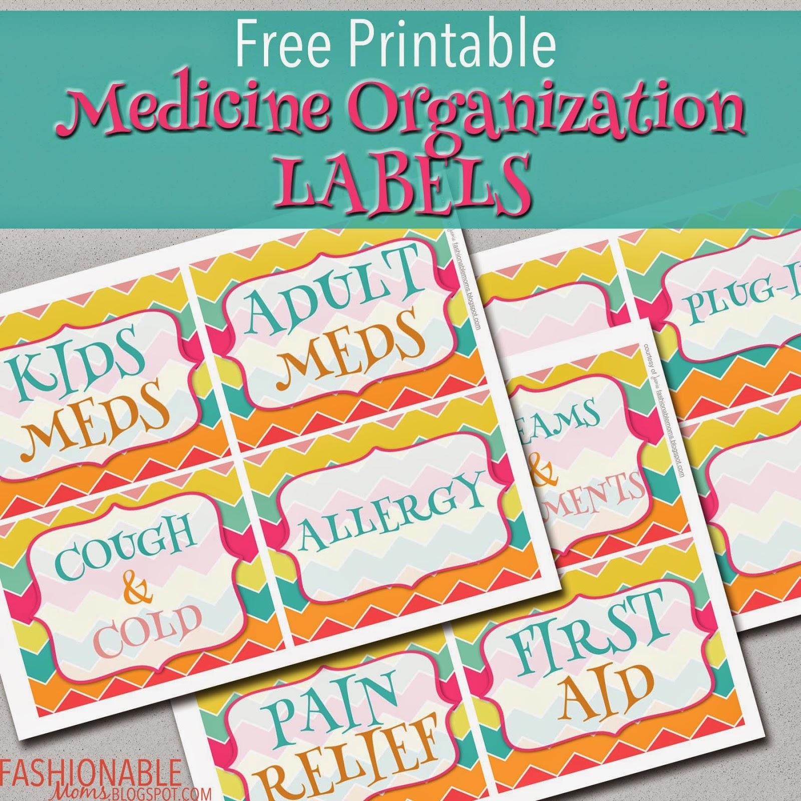 Kitchen Cabinet Labels: My Fashionable Designs: Updated Medicine Organization
