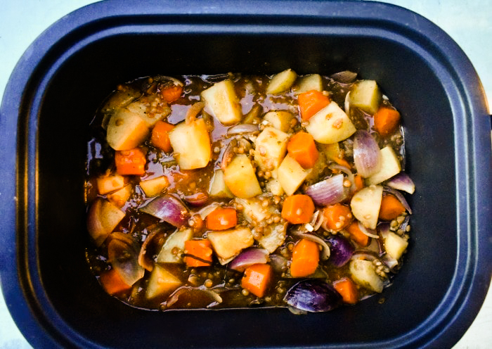 Slow Cooker Vegan Irish Stew