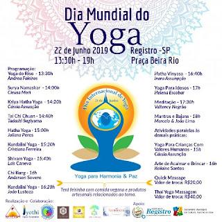 Em Registro-SP, Yoga Day contará com atividades de saúde, cultura de paz e harmonia