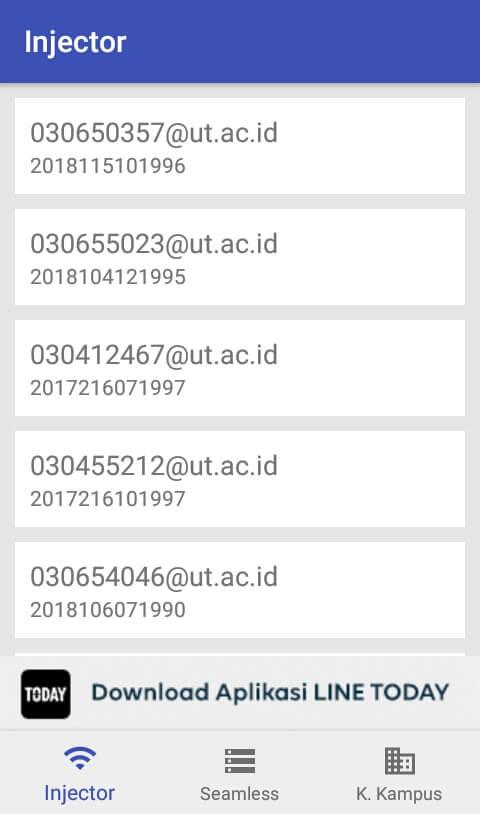 tunggu beberapa saat dan akan muncul akun Username dan Password Komunitas Kampus.