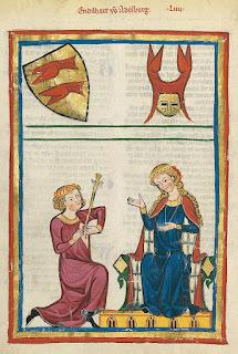 Un couple représenté dans le Codex Manesse