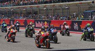 Hasil MotoGP Amerika: Marquez Tercepat Pemanasan, Rossi 11