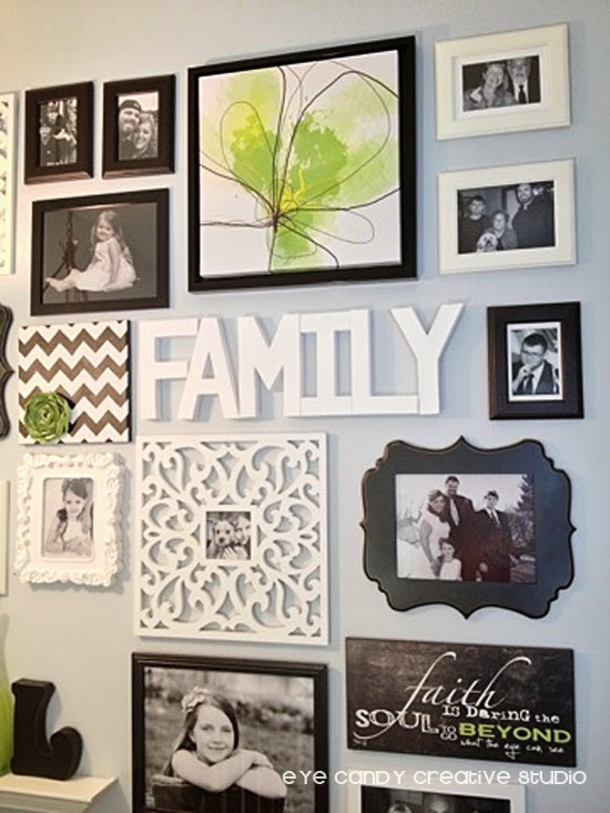 black and white photos, green flower artork, faith art, Piet 1 photo frame, family wordart