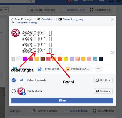Membuat Status Dan Komentar Kosong DI Facebook 100% Berhasil