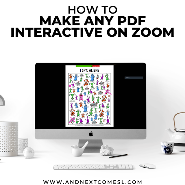 Zoom tips for teachers and teletherapists using the screenshare and annotate tools