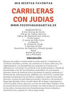 Receta Carrilleras con Judias