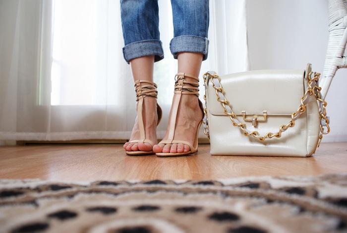 chain bag sandals diy francinesplace
