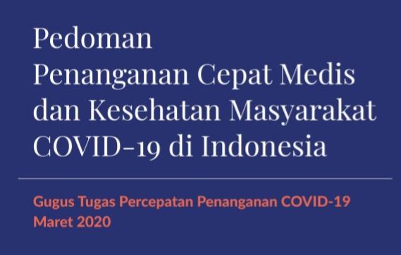 Download Pedoman Penanganan Cepat Medis dan Kesehatan Masyarakat COVID-19 di Indonesia