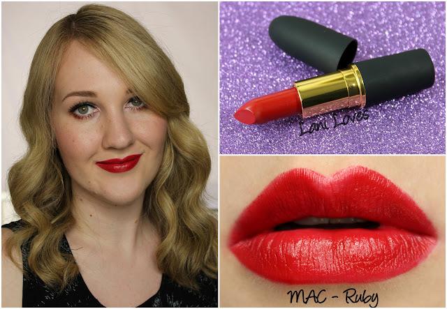 MAC Ruby lipstick swatch