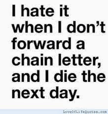 chain letter warning