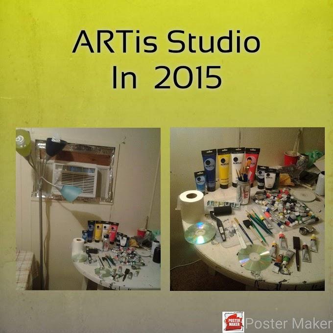 My studio in 2015