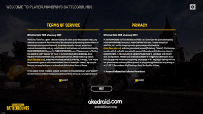 Terms of Service dan Privacy PUBG Lite PC Laptop Komputer