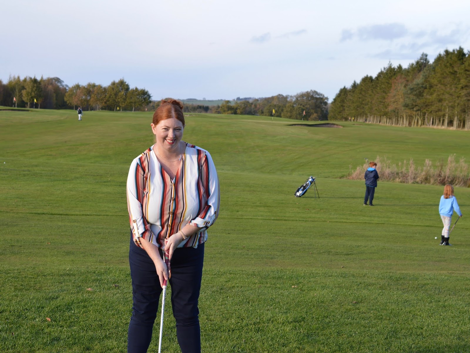 10 Reasons to Stay at Matfen Hall in Northumberland with Kids  - beginner's golf on the par 3 course
