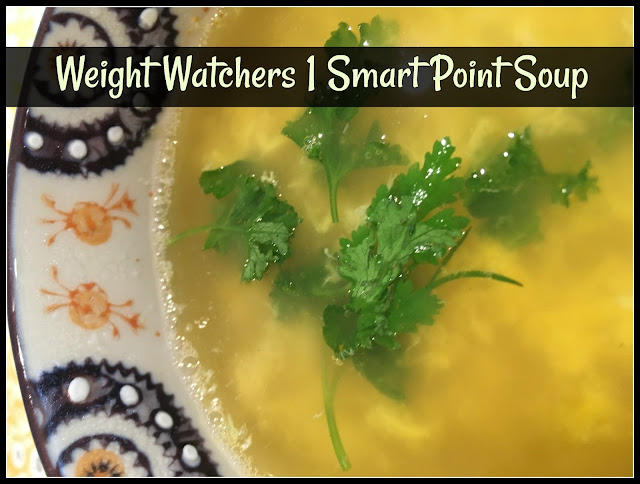 low calorie soup with fresh herbs