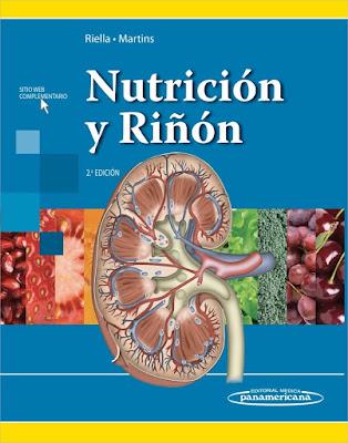 Portada del libro titulado Nutrición y riñón, de los autores Riella y Martins, de editorial Médica Panamericana