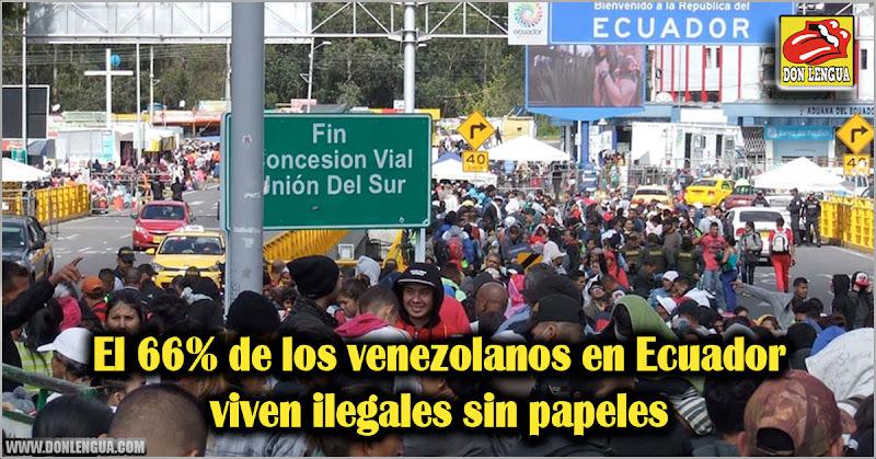 El 66% de los venezolanos en Ecuador viven ilegales sin papeles
