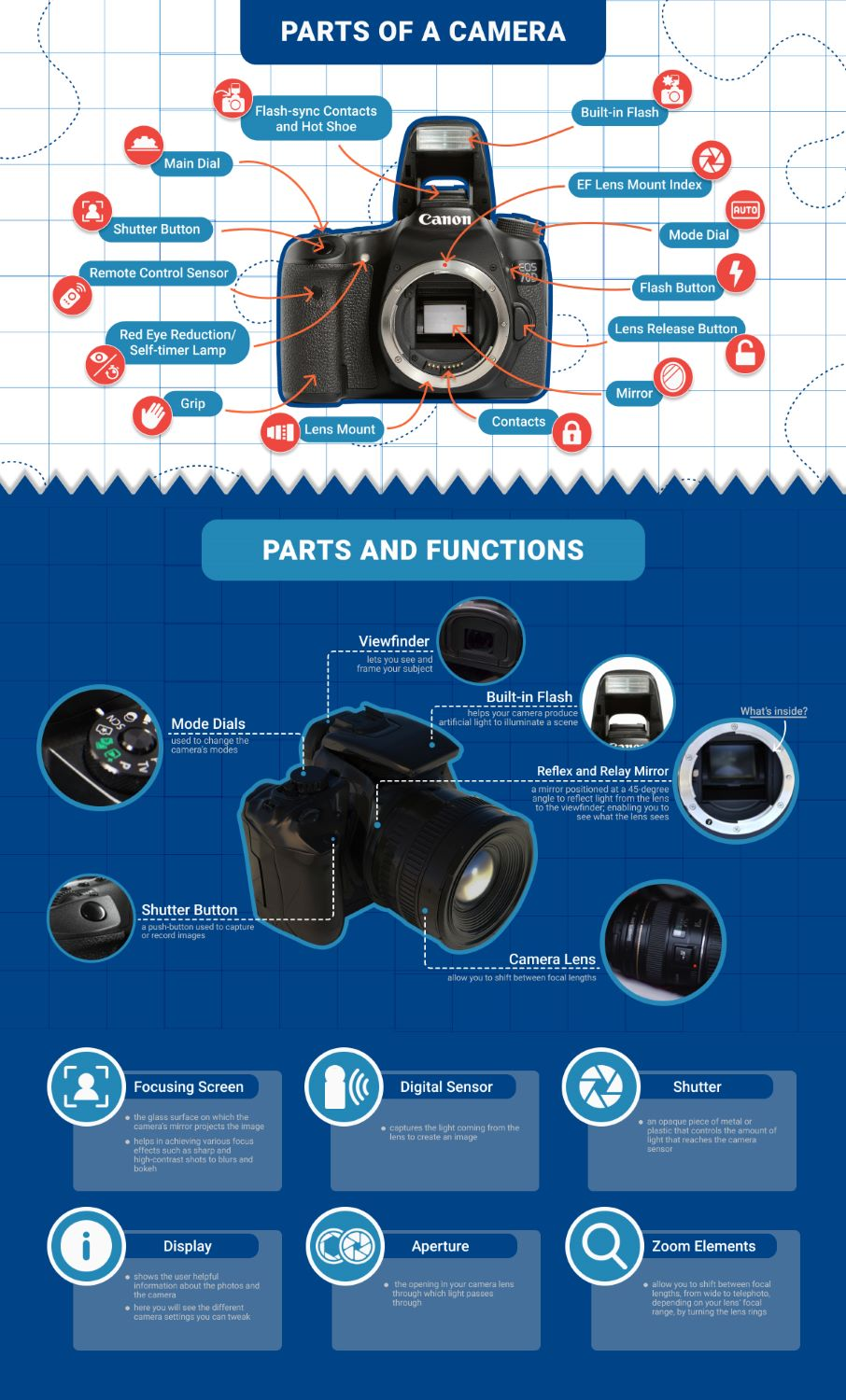 Adorama – Parts Of The Camera #Infographic