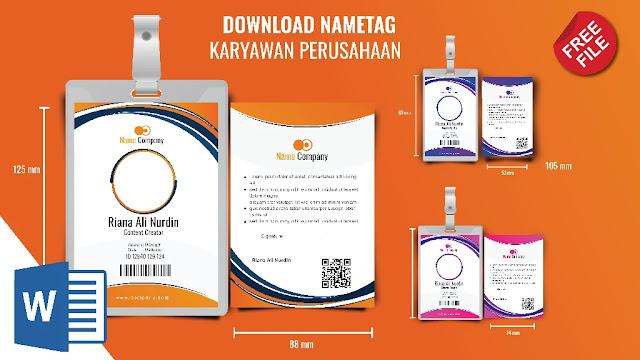 Download Template Format ID Card Karyawan Word 10