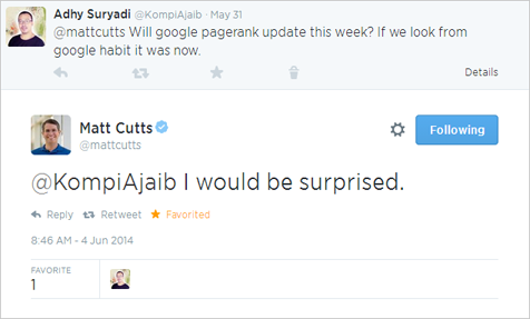 Matt Cutts: I Would Be Surprised