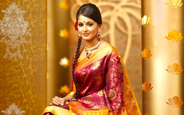 Anushka shetty In Traditional Saree Hd Wallpapers