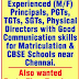 CBSE School, Chennai, Tamil Nadu Wanted Teaching and Non-Teaching Staff