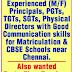 CBSE School, Chennai, Tamil Nadu Wanted Teaching and Non-Teaching Staff