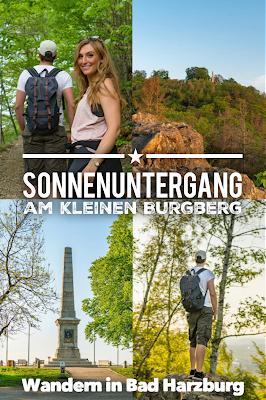 Sonnenuntergang am kleinen Burgberg  Wandern in Bad Harzburg  Wanderung Harz  Kurpark und Burgberg Bad Harzburg 20