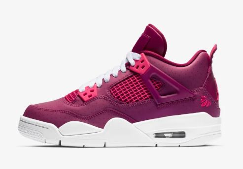 Here is a look at the new Air Jordan 4 Valentines Day 2019 GS Retro Sneaker  available at 10am EST HERE at Nike and HERE at footlocker. The first flight  ... 0b724ad81