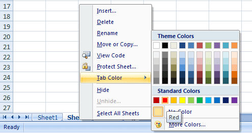 making excel sheet more colorful